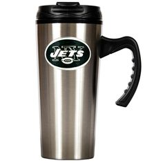 New York Jets NFL 16oz Stainless Steel Insulated Travel Mug by Great American