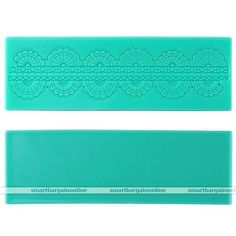Small lace mold / mould ... might be tricky to line it up at each end?   Classics Lace Shaped Silicone Mold Mould Fondant Cake Decorating Baking Tools | eBay