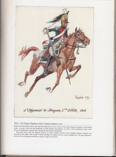 Dragoons: Plate 7: 5th Dragoon Regiment, Elite Company Dragoon, 1811.