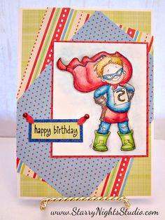 Super Hero Handmade Birthday Card
