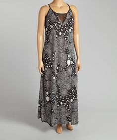 Look what I found on #zulily! Black & White Paisley Maxi Dress - Plus by Yummy #zulilyfinds