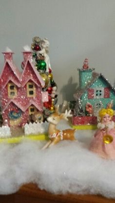 Glitter house christmas village