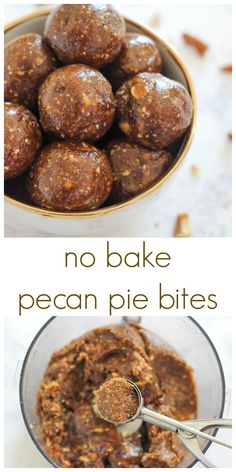 No Bake Pecan Pie Bites are a healthier version of the classic pecan pie in fun bite size balls. These bites are easy to make and taste amazing!