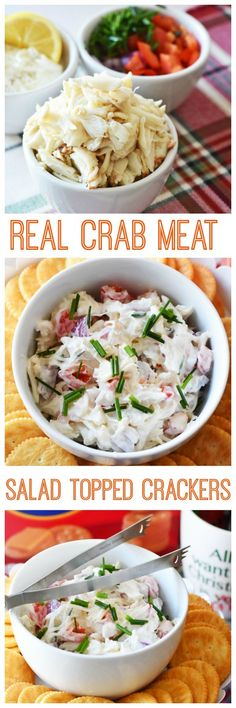 Real Crab Meal Salad Cracker Bites, An appetizer that can be whipped up in minutes. The dressing is light and zesty. #HolidayRITZ AD @walmart