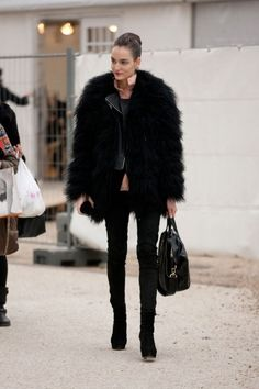 Black faux fur. Love it