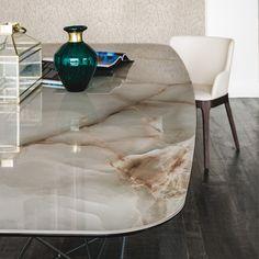 Rectangular ceramic table GORDON KERAMIK - @ccattelan