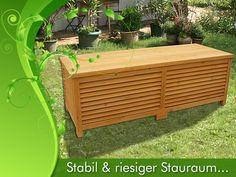 Holz Auflagenbox Kissenbox Gartenbox Gartentruhe Box Auflagen Truhe Holztruhe WO