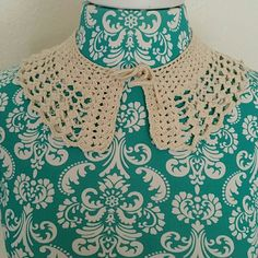 Vintage Hand Crocheted Lace Peter Pan Collar Gorgeous! Very Zooey Deschanel. Use this collar to dress up any top, sweater or dress. The possibilities are endless! So kawaii!  Adjustable. Vintage Accessories