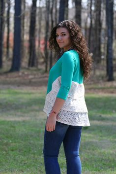 Can't be pinched! Lace detail top – The Pink Ivy Boutique