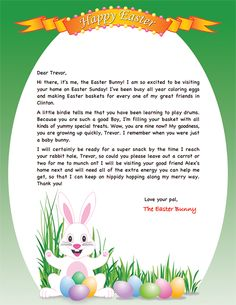 Letter From The Easter Bunny  Easter Ideas    Easter