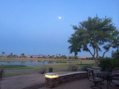Full moon in Oakwood Sun Lakes az #sunlakesaz #fullmoon #sunlakes