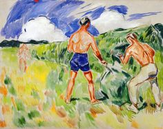 Edvard Munch - Haymaking (1942) Munch-museet Painting - oil on canvas