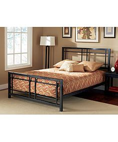 @Overstock.com - Bryant King-size Bed - Complete your bedroom collection with this Bryant king-size bedFashionable bed is made of sturdy and durable metal with a luxurious finishElegant bed design is sure to enhance any bedroom decor  http://www.overstock.com/Home-Garden/Bryant-King-size-Bed/2543714/product.html?CID=214117 $309.99