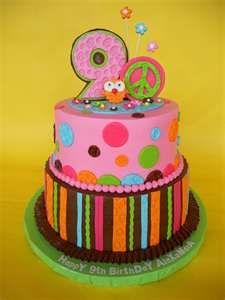 hippie chick cake