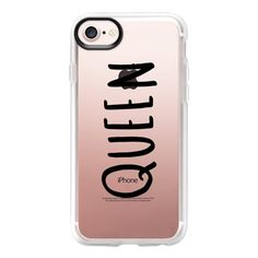 Queen - Black - iPhone 7 Case And Cover ($40) ❤ liked on Polyvore featuring accessories, tech accessories, iphone case, clear iphone case, iphone cases and apple iphone case