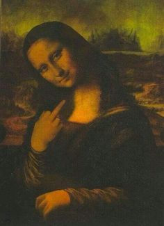 Now, point to that famous Mona Lisa smile ...