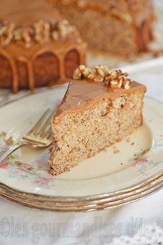 gâteau aux noix, Grenoblois, café, noix de Grenoble, glaçage, fécule de pommes de terre,