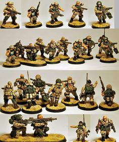 Cadian   CoolMiniOrNot - Cadian Veteran Squad - Taros by TAOC