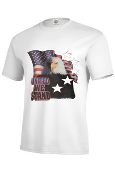"""""""United We Stand"""" - T-Shirt - 100% Pre-Shrunk Cotton - 5.2 oz - Short set-in sleeves - Taped neck and shoulder seams for durability - Two-needle hemmed sleeves and bottom won't unravel - Seamless rib"""