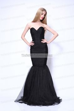 f7329ee568d Celebrity Dresses Amber Rose Black Strapless Mermaid Prom Formal Dress at  the annual Critics  Choice Movie Awards