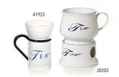 "38203 Becher auf Stövchen ""Tea Time"" Porzellan, 2 teilig // Dethlefsen & Balk - Tee, Kaffee, Süßwaren, Accessories"