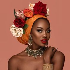 Beauty is the Essence of the Soul - Beauty Photography by Joey Rosado - fashion photography roses - African Beauty, African Women, African Fashion, Beautiful Goddess, My Black Is Beautiful, Afrika Tattoos, African Head Wraps, Black Women Art, Beauty Photography