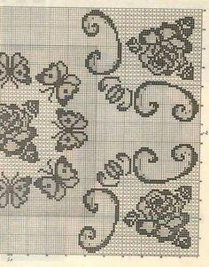 Filet crochet Doily graphs