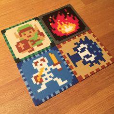Zelda coasters made with perler beads