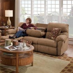 Reclining couch with center unit