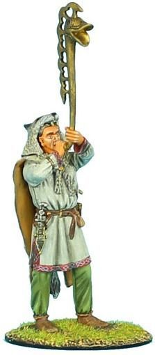 Barbarians, Celts & Vikings ROM028 Roman Warrior Playing Horn - Made by First Legion Military Miniatures and Models. Factory made, hand assembled, painted and boxed in a padded decorative box. Excellent gift for the enthusiast.