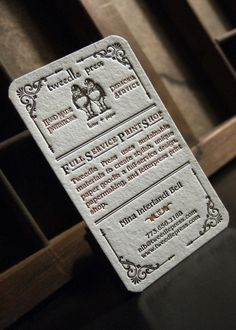 letterpress business cards.