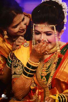 A joke for the giggling marathi bride Marathi Bride, Marathi Wedding, Saree Wedding, Wedding Wear, Wedding Pics, Wedding Bride, Bride Photography, Wedding Couple Poses Photography, Indian Wedding Photography