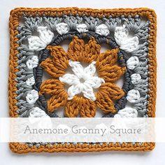 Anemone Granny Square   Free pattern + tutorial