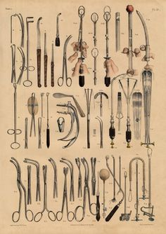 Nicolas Henri Jacob for Jean Baptiste Marc Bourgery   Illustrations of Surgical Instruments inspiration graphics