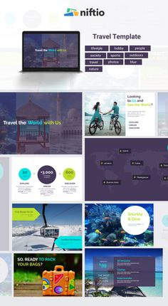 Summer days are over. Share your holiday with a nice presentation starting from this Travel template. Hobby People, Online Powerpoint, Presentation Software, Software Online, Photo Blue, Outdoor Travel, Summer Days, Travel Photos, Lifestyle