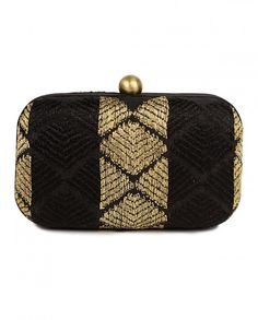 Golden and Black Phulkari Clutch Shop now on :  bit.ly/Aiyanashop