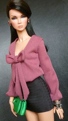 Tulle skirts for barbie shopgirl dress for barbie chanel purses for barbie red faux leather suit chanel s – ArtofitBarbies at Work Barbie Gowns, Barbie Dress, Barbie Style, Fashion Royalty Dolls, Fashion Dolls, Doll Clothes Patterns, Clothing Patterns, Accessoires Barbie, Barbie Fashionista Dolls