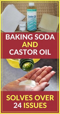 Castor oil and baking soda are one of the oldest ingredients you can find on the market and they have been used since ancient times thanks to their incredible healing and health beneficial properties. Instead of throwing away money at conventional treatm Natural Home Remedies, Natural Healing, Herbal Remedies, Health Remedies, Arthritis Remedies, Diabetes Remedies, Baking Soda Shampoo, Baking Soda Uses, Benefits Of Baking Soda
