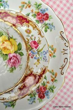 my floral plate collection is getting HUGE! but what to do with them all once the wedding is over??