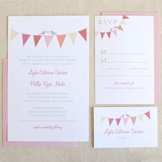Another printable invitation :)  http://www.weddingchicks.com/freebies/invitation-suites/bunting-invitation-suite/