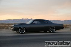 Pro-Touring Custom '67 Chevelle by Goolsby Customs grey silver 5 star brushed powder coated