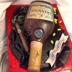 hennessy bottle cake, fondant and dominican cake edible art!