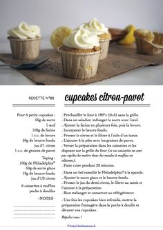 Carton Recette n°86 Fondue, Cupcakes, Recipe Cards, Desserts, Cooking Food, Everything, Recipes, Deserts, Cupcake