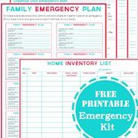 Make your own 72 hour emergency preparedness kit, emergency preparedness patch