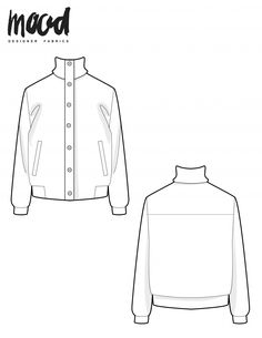 Coat Pattern Sewing, Coat Patterns, Sewing Patterns Free, Jacket Pattern, Free Sewing, Sewing Tutorials, Fabric Patterns, Free Pattern, Sewing Ideas