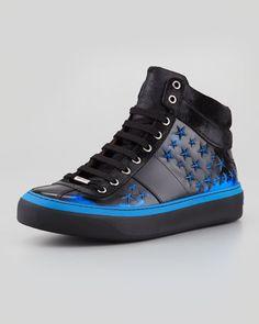 Belgravia Men\'s 3D Star High-Top Sneaker by Jimmy Choo at Neiman Marcus.