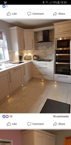 A kitchen conversion project is easier to achieve if the budget is taken into account . - A kitchen conversion project is easier to achieve if the budget is taken into account. Kitchen Tiles, Kitchen Colors, Kitchen Flooring, Kitchen Cabinets, White Cabinets, Kitchen Decor, Kitchen Stove, Large Cabinets, Kitchen Brick
