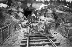 Destroyed train rails in Norway