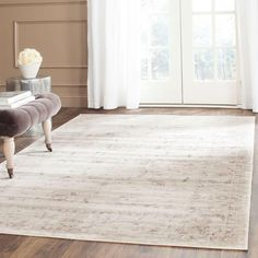 New Safavieh Vintage Collection Transitional Oriental Light Grey Ivory Distressed Area Rug x online - Usclotrend White Area Rug, Blue Area Rugs, Cream Living Rooms, Childrens Rugs, Traditional Area Rugs, Rustic Rugs, Diy Carpet, Bedroom Carpet, Grey Rugs