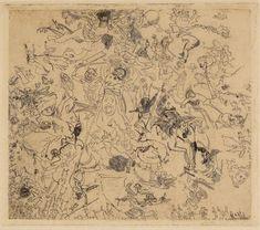 James Ensor, 'Diables rossant anges et archanges', 1888